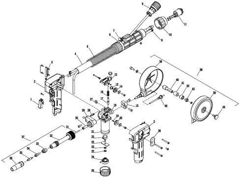 MAG Spool Gun, Handy Welding Machinery, NORTH Pulling