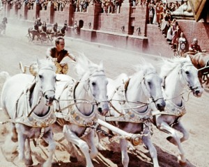 Actor Charlton Heston as Judah Ben-Hur