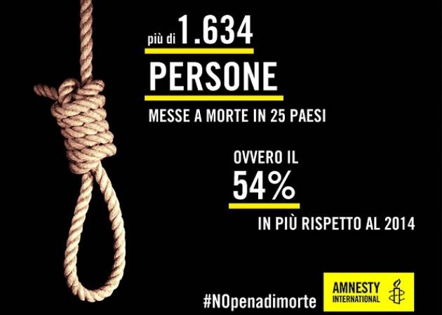 pena di morte 2015 amnesty international