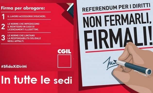 Risultati immagini per voucher referendum cgil