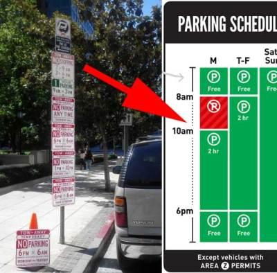 2014.10 parkingsigns - 洛杉矶市将启用新型的停车指示牌