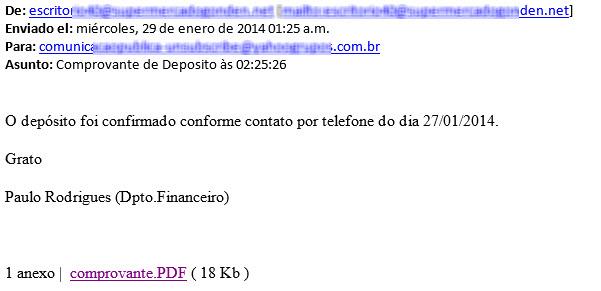 correo brasileño malicioso