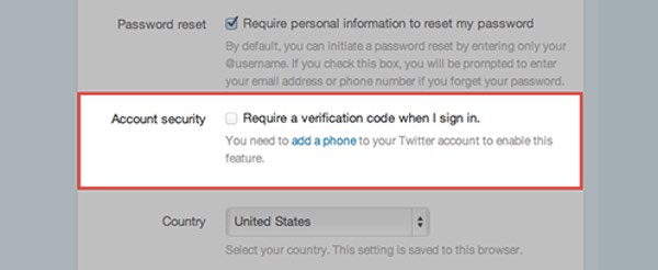 Twitter Login Verifications