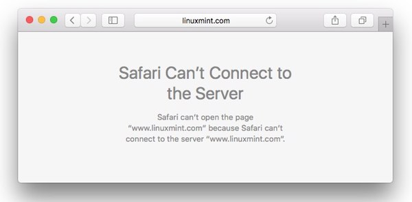Linux Mint website down