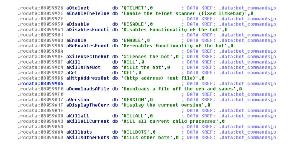 Figure 12 - Telnet scanning, downloading a file, killing other bots