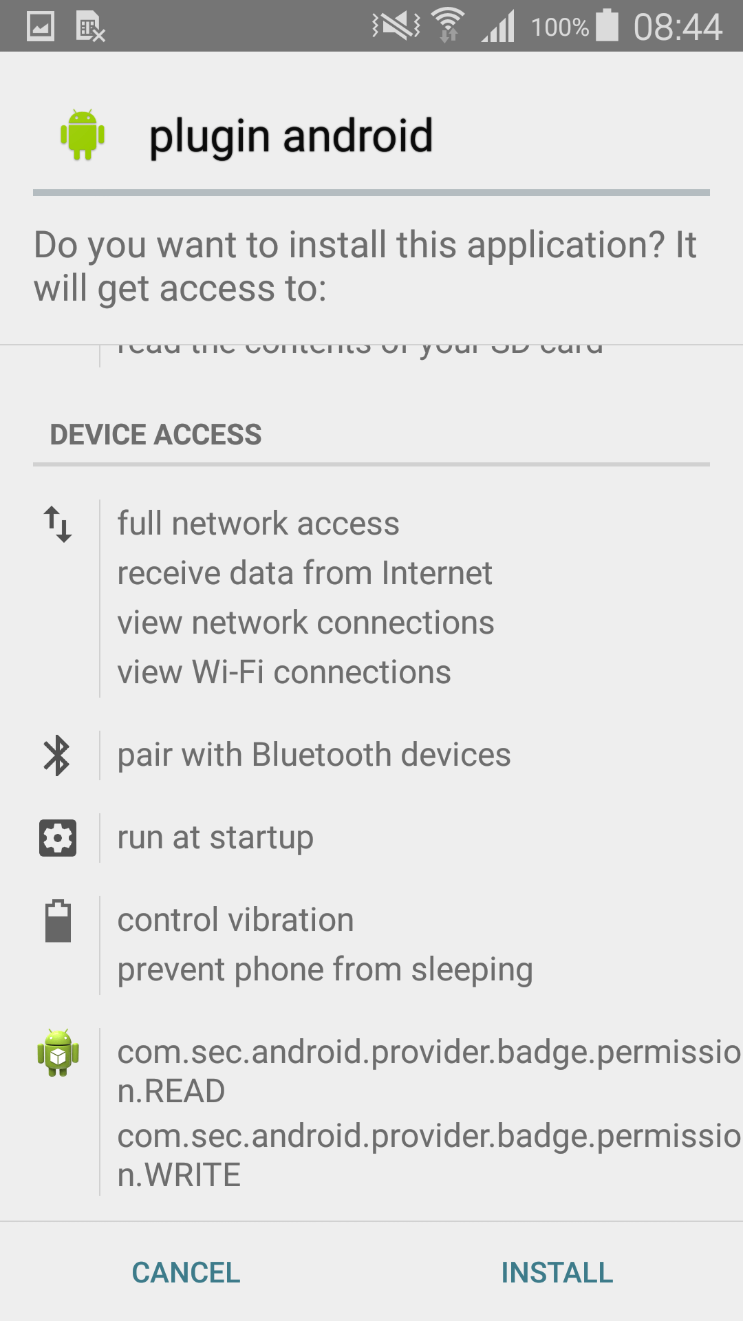 "Ad-displaying component disguised as ""plugin android"" on Google Play"