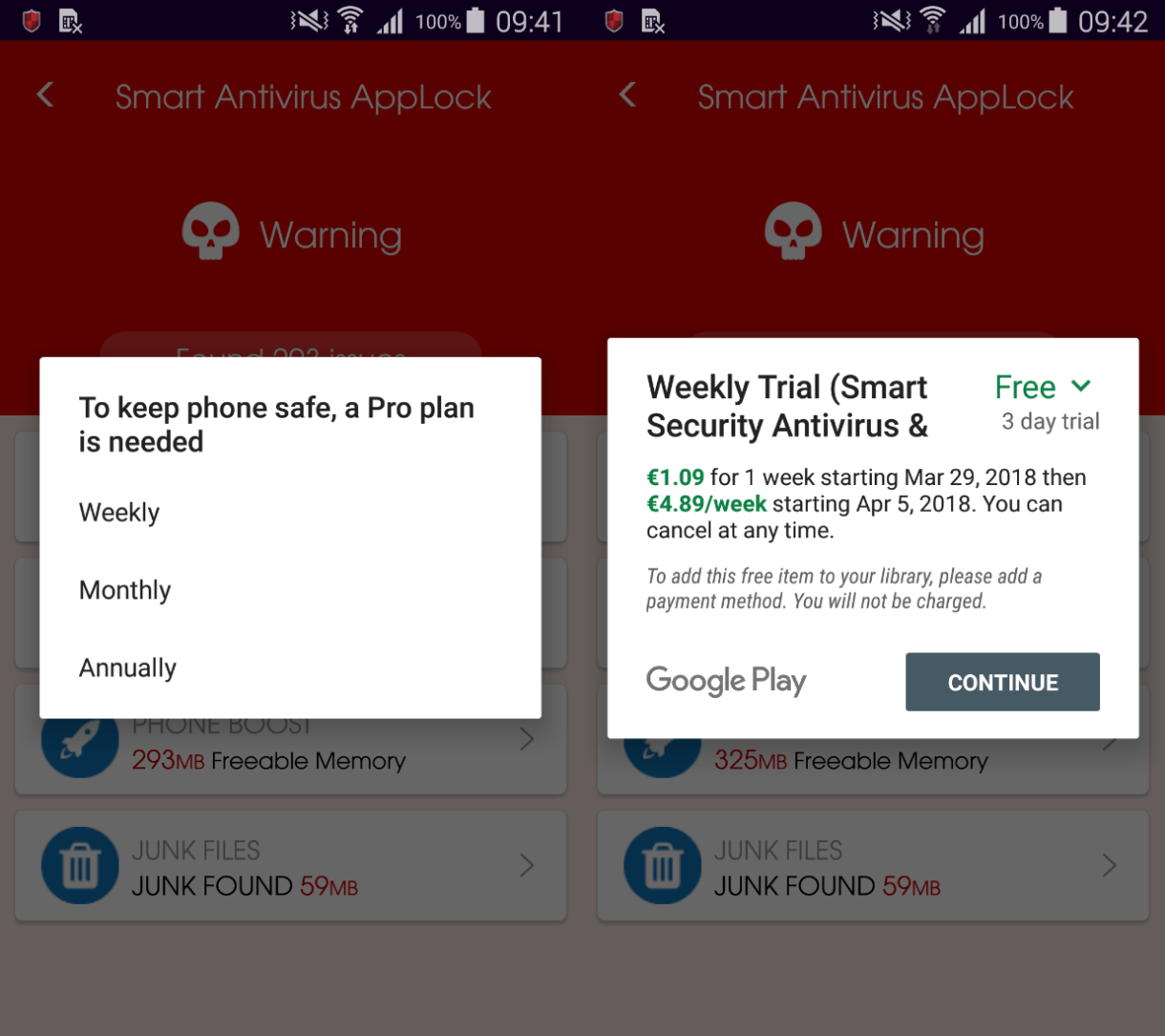 Figure 4 – One of the apps offering a 'Pro plan'