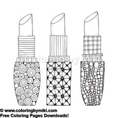 kleurplaat make up saubhaya makeup