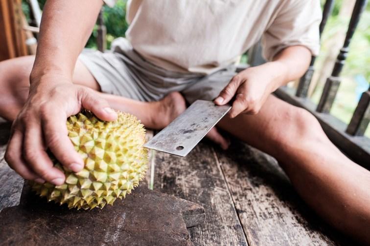 Cutting a Durian - Editorial Photographer