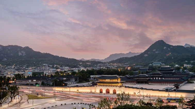 Gyeongbokgung at Night - Seoul Editorial Photographer