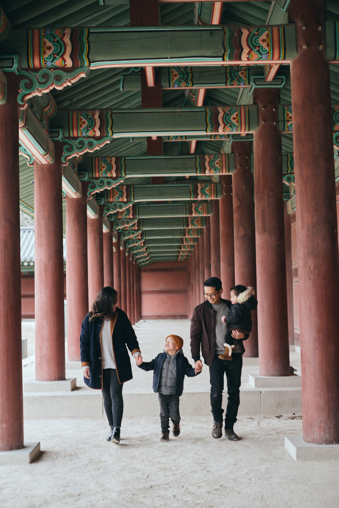 The Mangahas family in Changdeokgung
