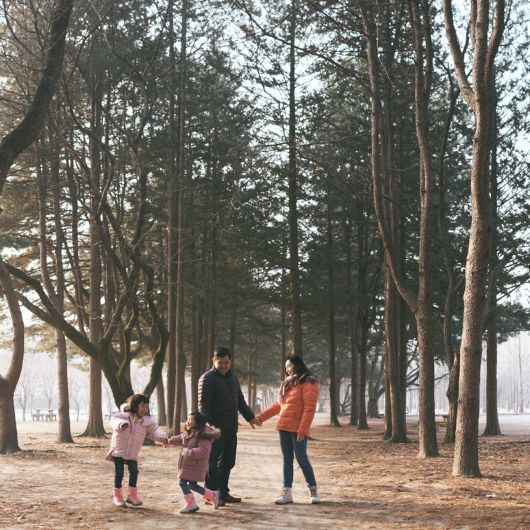 Warming up with a little play on Nami Island