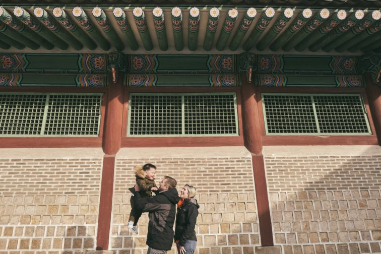 Feruglio family portraits at Gyeongbokgung