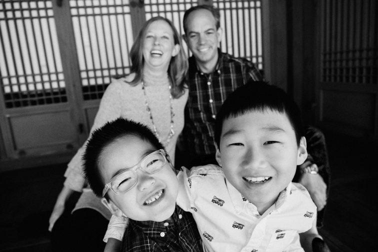 Seoul, Korea, Family Photographer - Ashcraft Family Lifestyle Session Black and White