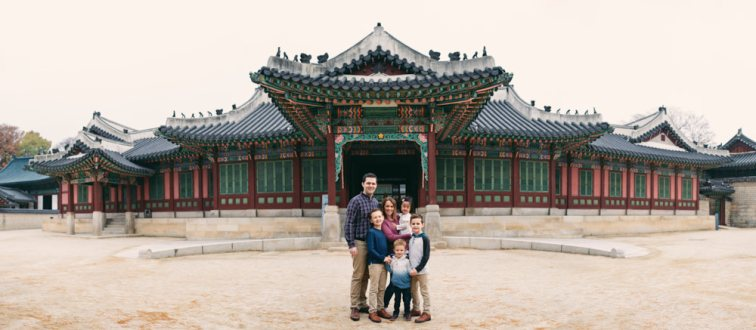 Kruger Family Photos at Seoul's Changdeokgung
