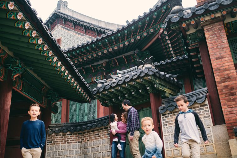 Changdeokgung can be a great space for young children as there's a lot to work with in a small space