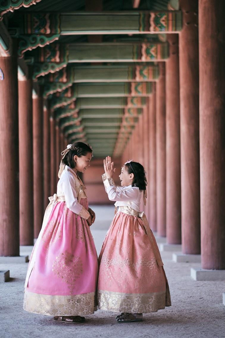 Hanbok Photoshoot Seoul - Miles Family Sister Portrait