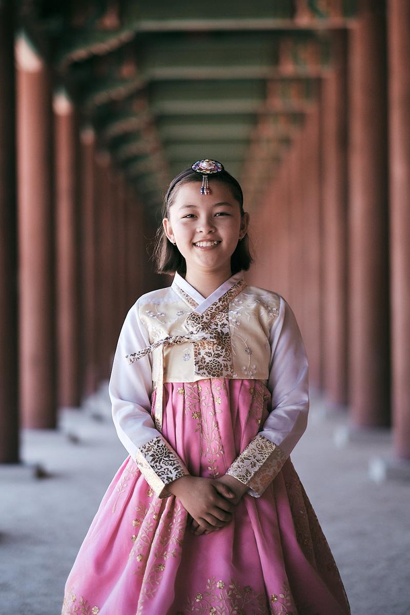 Hanbok Photoshoot Seoul - Miles Family Child Portrait