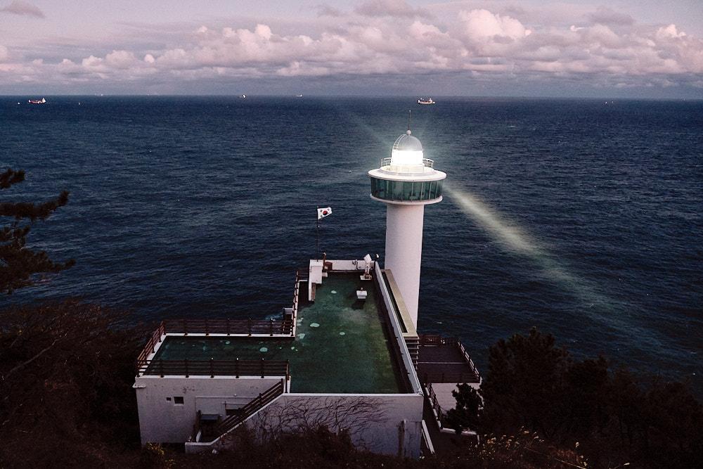 Yeongdo Lighthouse at Night