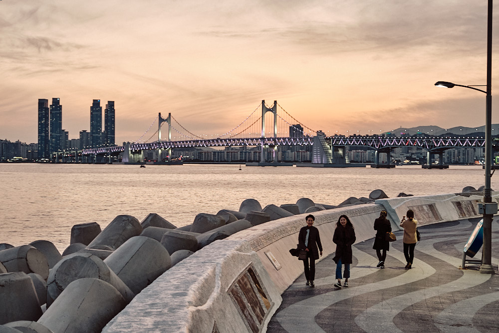 Marine City and Gwanganli Bridge, Seagull Path, Busan