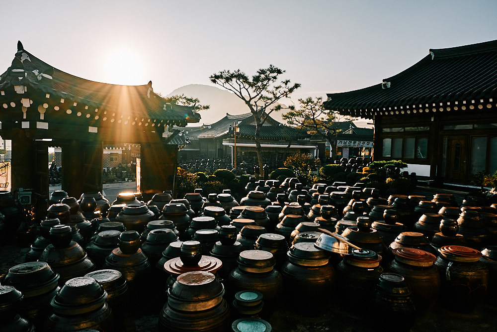 Fermentation Pots at Sunrise, Smile Magazine, Korea Editorial Photographer