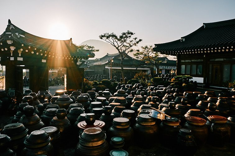 Fermentation Pots at Sunrise, Smile Magazine, Korea Editorial Photographer