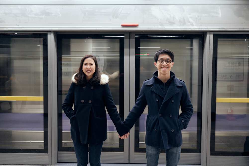 Gwanghwamun, Seoul, Pre-Wedding Winter Photo Shoot