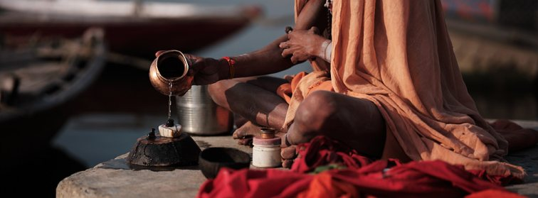 Ganga Maata Blessing, Varanasi, India