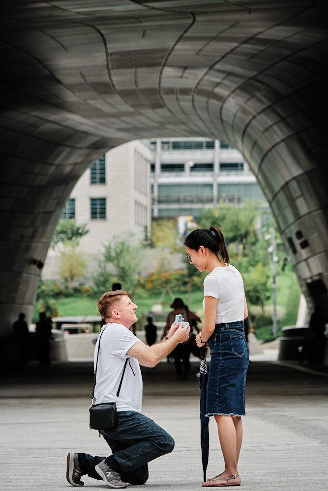 Surprise Proposal at DDP - Seoul Engagement Photography
