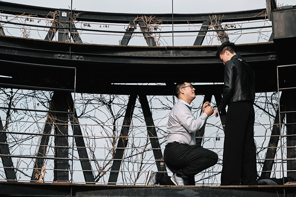 Lawrence Proposes at the Observatory in Sky Park, Seoul