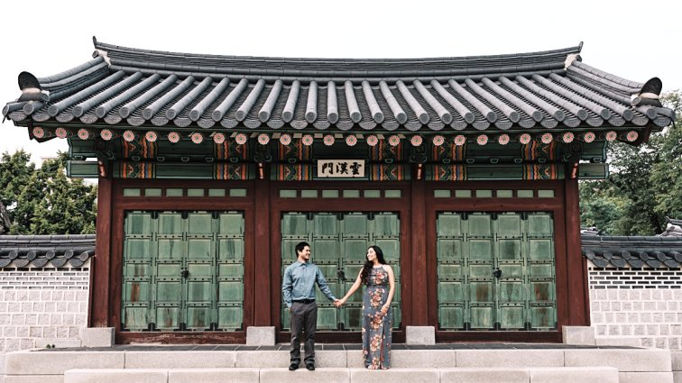 Kristi and Kelson - Couple Photography at Changdeokgung, Seoul