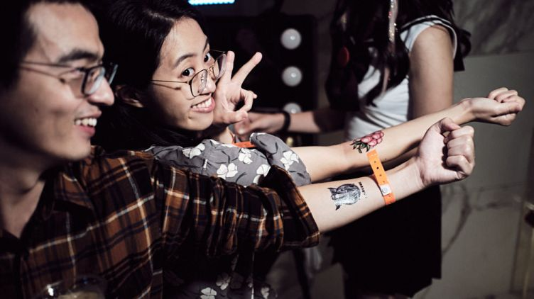 Fake Tattoos - Coingeek after party