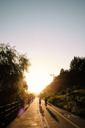 Seongsu Cycling Path Sunset