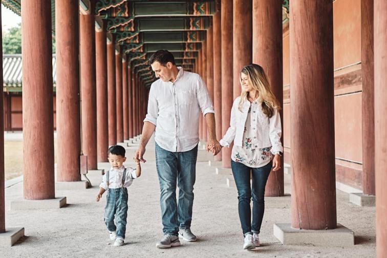 Family Walk - Michas Post-Custody Family Photos