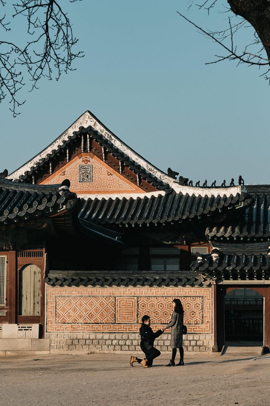 Winter Proposal at Gyeongbokgung