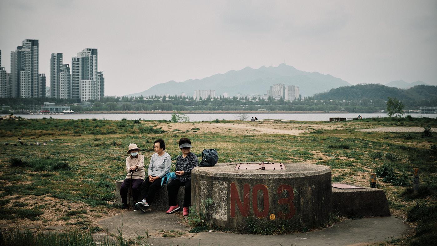 A Gaggle of Ajummas - Han River, Seoul