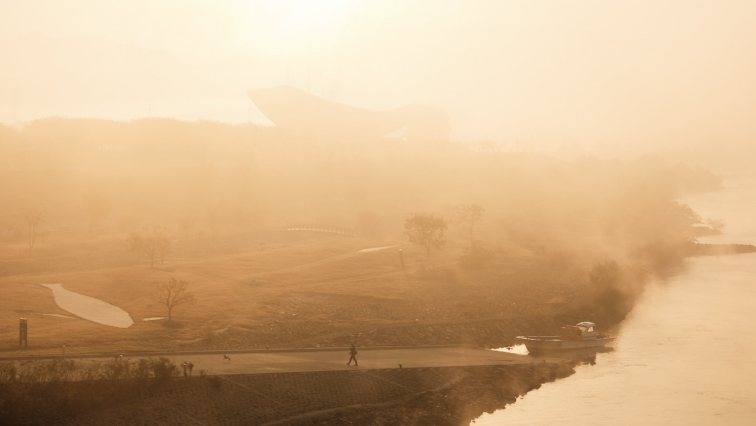 Daegu Fog - Korea Cross Country Cycling