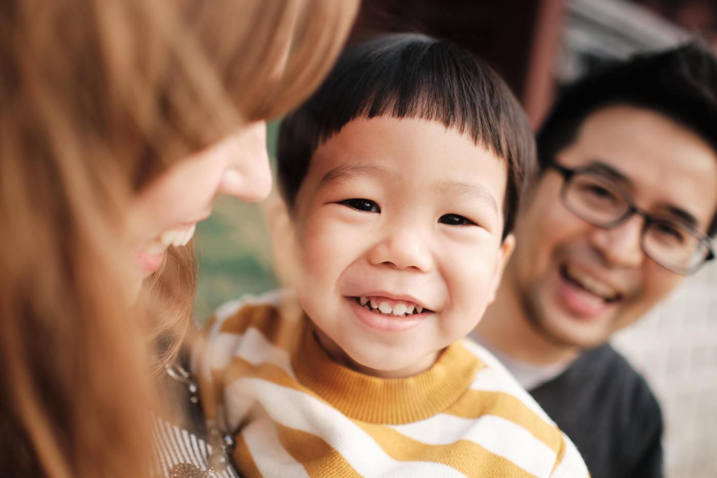 Peek-a-Boo - Hirashiki Winter Family Photo