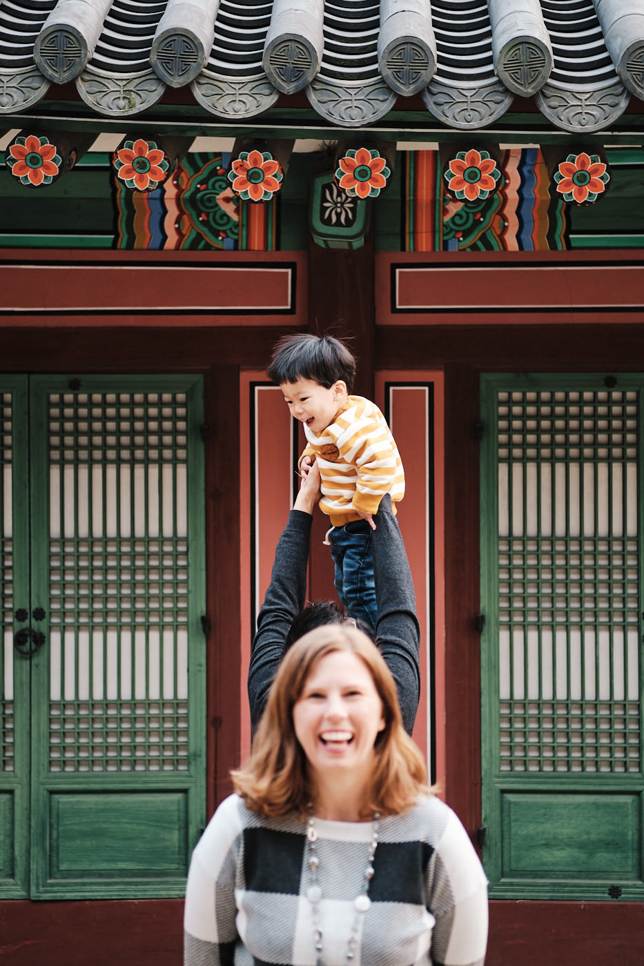 Flying HanWool - Winter Family Photography