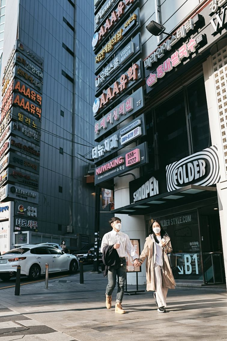 Dense Signage - Gangnam Station