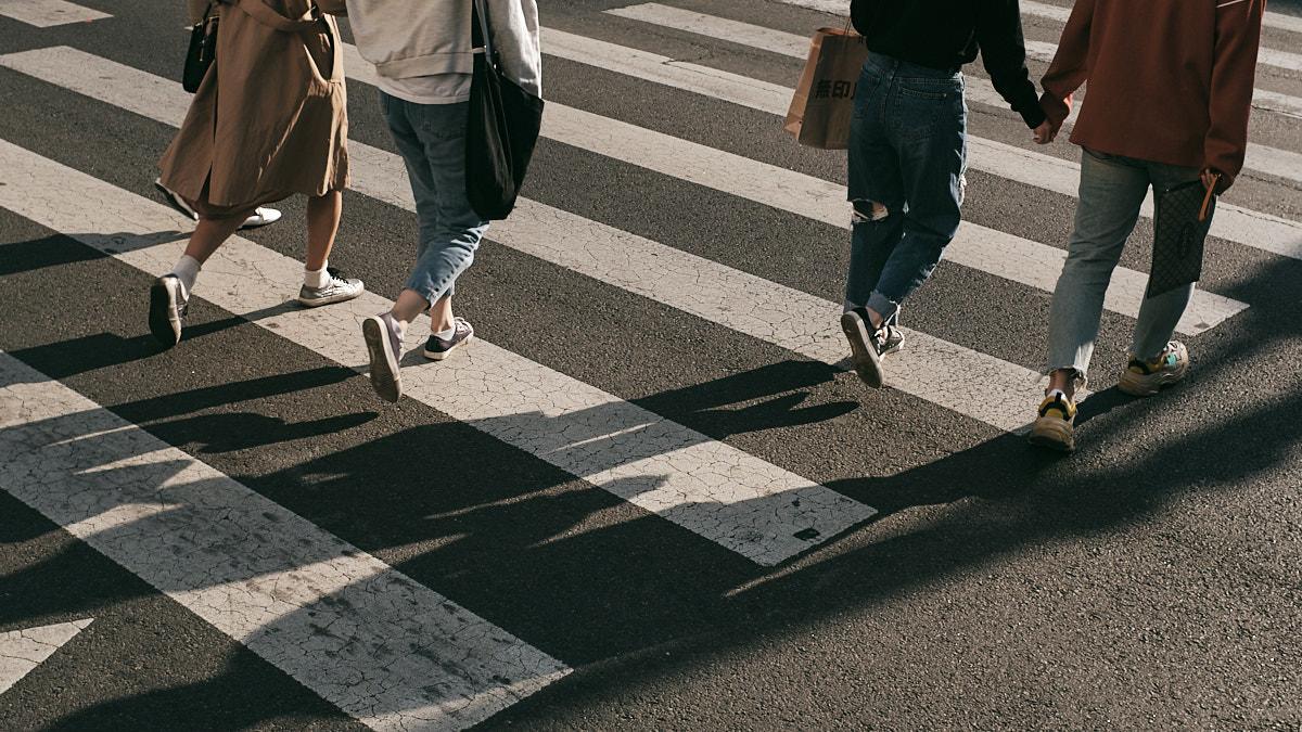 Street Crossing in Gangnam