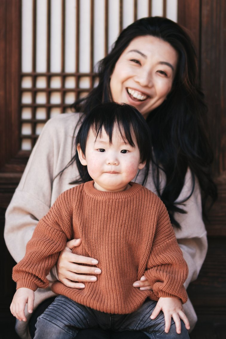 Mother and Son - Chen Family Photos in Seoul