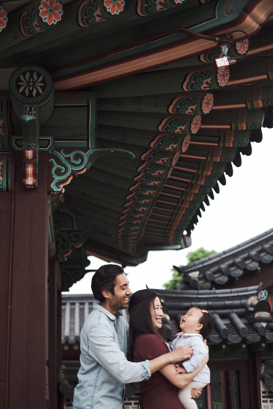 Family Photos for Maliha at Changdeokgung - Snuggle