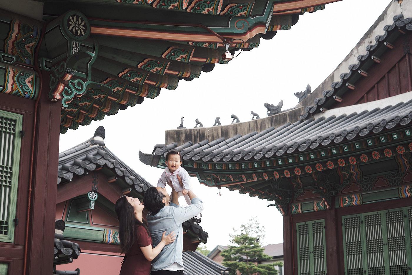 Family Photos for Maliha at Changdeokgung - Flying