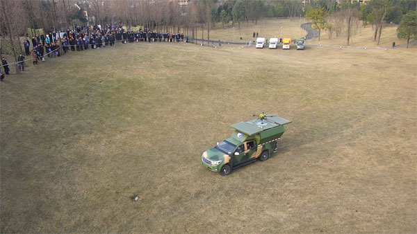 mobile drone vehicle