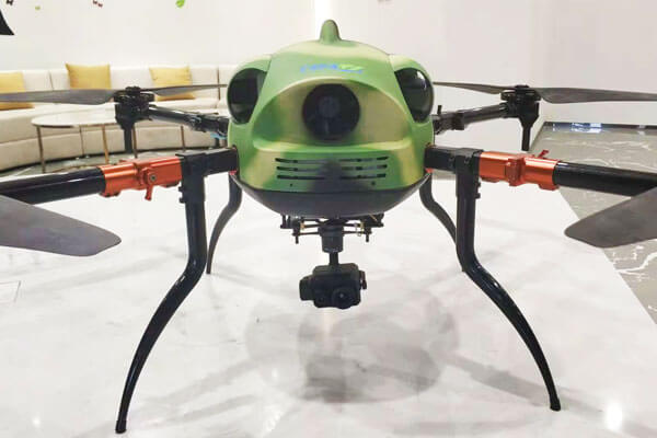 Gas-Electric Hybrid quadcopter drone