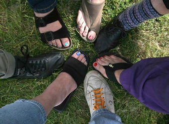 A selection of toes and shoes