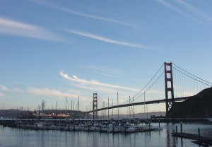 The view of the Golden Gate Bridge from the PYC