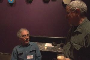 jayson and Steve (Mr. gail) talk world affairs over a British chocolate stout