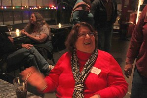 Longtime WELL member mec shares a laugh with a WELL friend